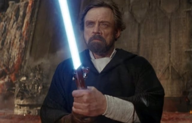 Luke Skywalker en Star Wars episodio VIII: Los Últimos Jedi