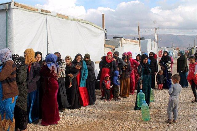 Ayuda humanaitaria a refugiados sirios en Líbano