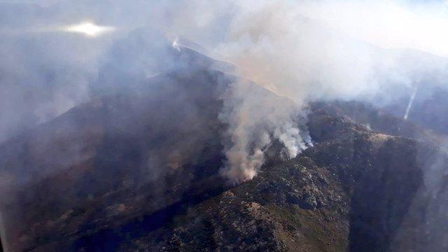 Situación del incendio en Candeleda