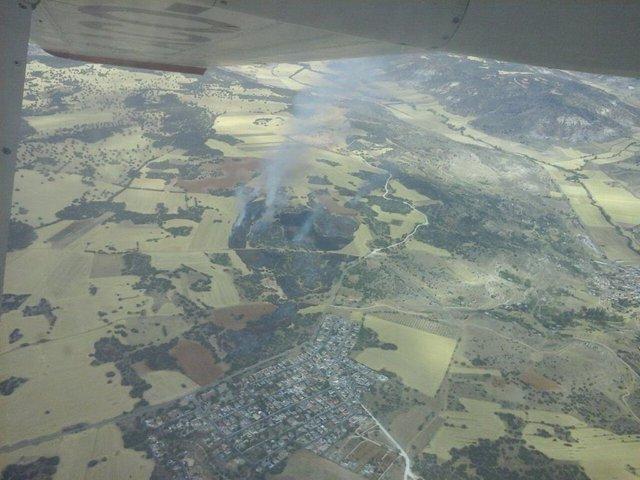 Incendio forestal en Loranca de Tajuña (Guadalajara)