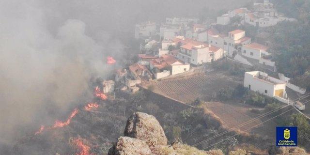 Incendio de Valleseco (Gran Canaria) este domingo