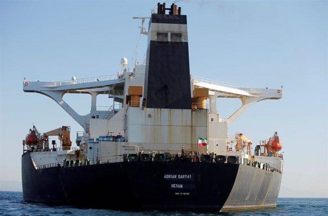 El petrolero iraní 'Adrian Darya 1' en Gibraltar