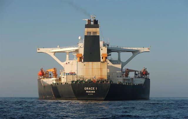 Carguero 'Grace 1' en Gibraltar