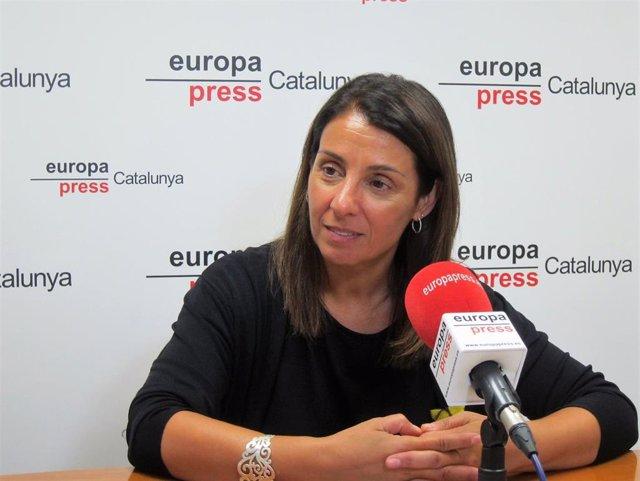 La consellera de la Generalitat Meritxell Budó en una entrevista de Europa Press