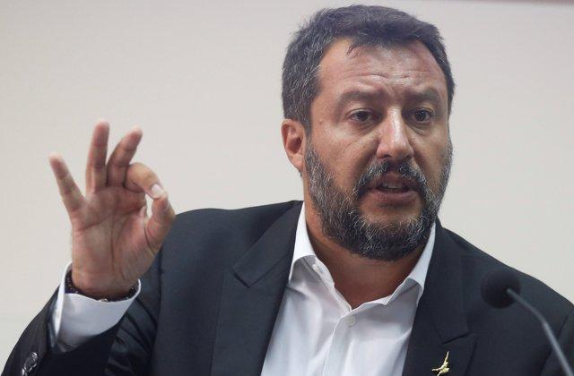 El ministro del Interior de Italia, Matteo Salvini en unas declaraciones