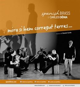 Cartel de la actuación de Carles Dénia y la Spanish Brass en Sagunt a Escena