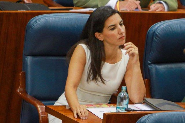 Imagen de archivo de la portavoz de Vox en la Asamblea de Madrid, Rocío Monasterio.