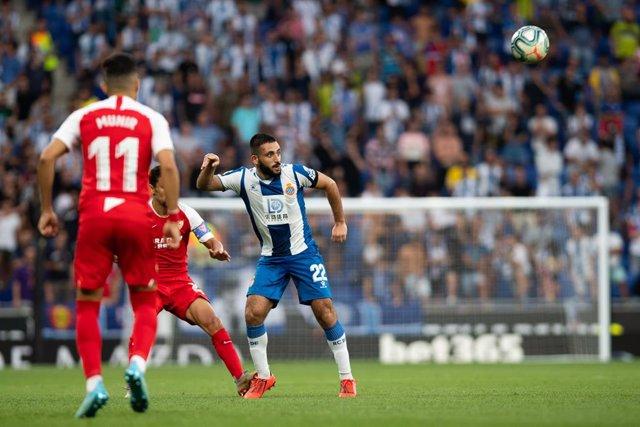 M. Vargas of Espanyol during tha spanish league, La Liga, football match played between RCD Espanyol and Sevilla FC at RCDE Stadium in Barcelona, Spain, on August 18, 2019.