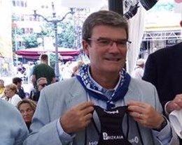 El alcalde de Bilbao, Juan Mari Aburto, en un acto de la Aste Nagusia 2019 (archivo)