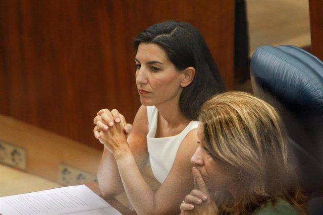 Imagen de archivo del portavoz de Vox en la Asamblea de Madrid, Rocío Monasterio.