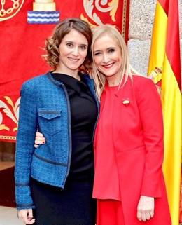 """La expresidenta de la Comunidad de Madrid Cristina Cifuentes desea """"lo mejor"""" a Isabel Díaz Ayuso y señala que lo importante es """"llegar a merecerlo"""" y no que los demás """"lo reconozcan""""."""
