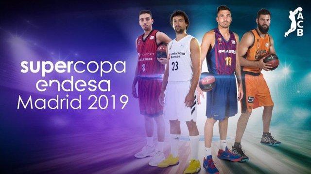 Real Madrid, Barça Lassa, Valencia Basket y Montakit Fuenlabrada disputarán la Supercopa Endesa