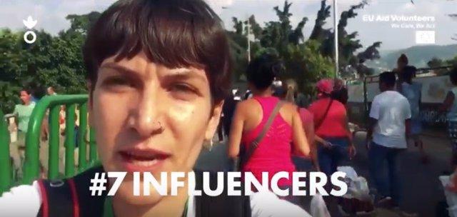 Campaña '#7influencers' de Acción contra el Hambre y la UE.
