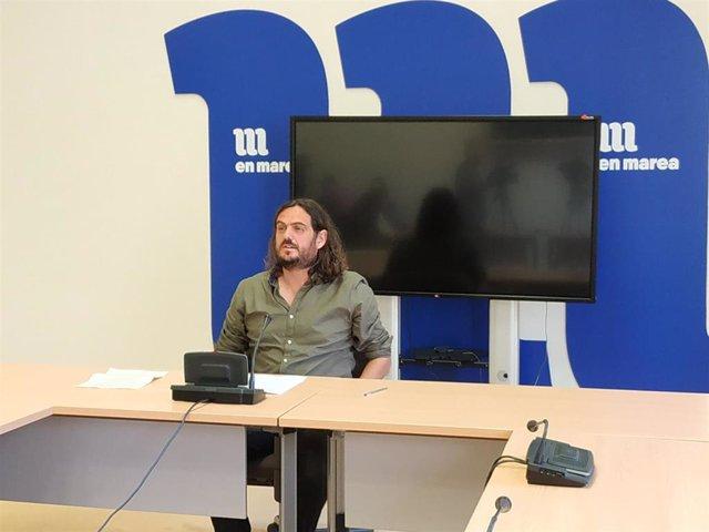 Antón Sánchez durante la rueda de prensa.