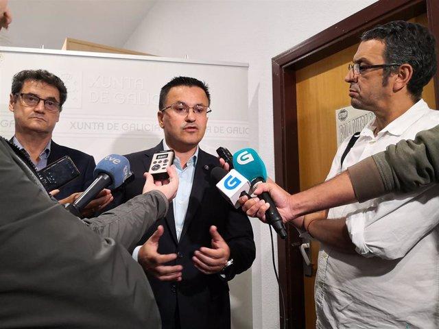 El conselleiro de Medio Rural, José González, habla sobre detenidos por incendios forestales