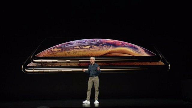 Tim Cook en la presentación del iPhone Xs