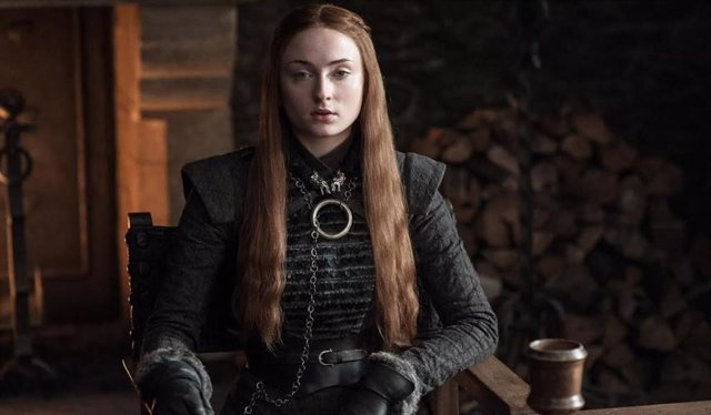 Sophie Turner encarnando a Sansa Stark