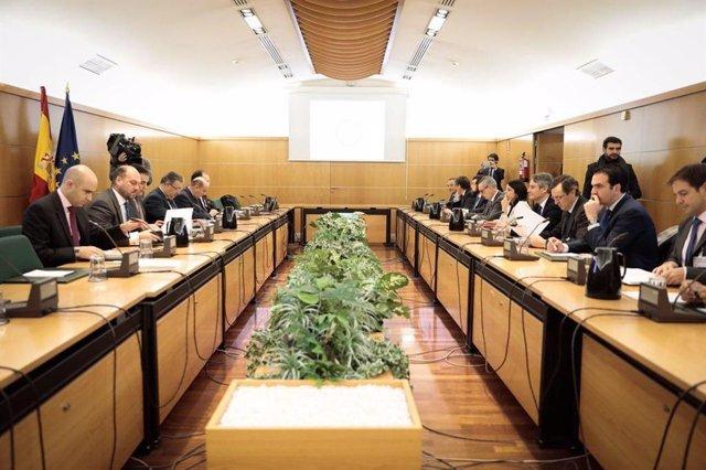 Reunión de trabajo del pacto antiyihadista en diciembre de 2017