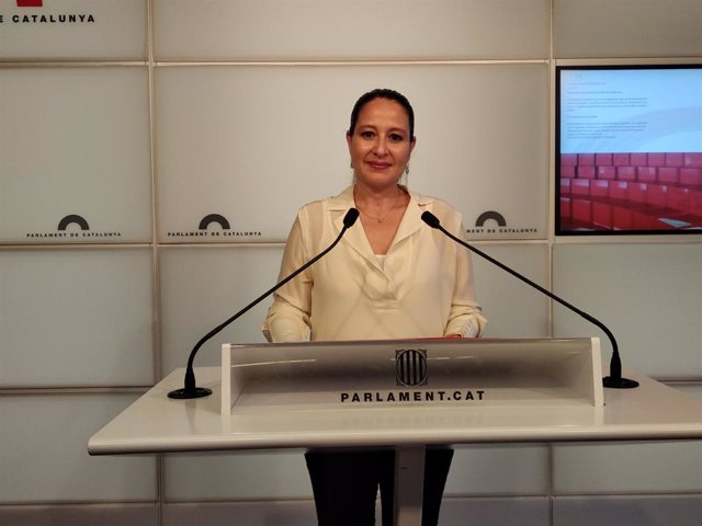 La diputada de Cs al Parlament Sonia Sierra.