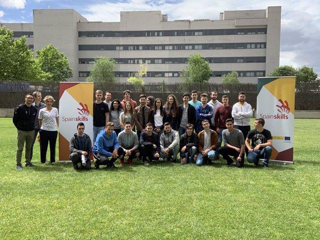 Estudiantes que integrarán la delegación española en el World Skills 2019.