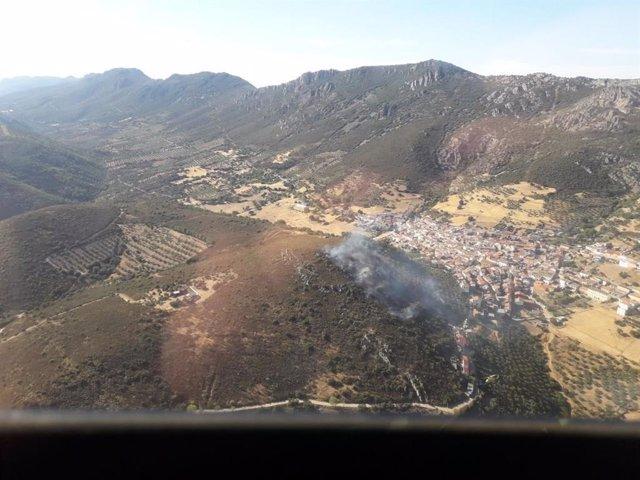 Incendio declarado en el término municipal de Solana del Pino