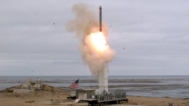 Ensayo de un misil balístico de alcance intermedio de Estados Unidos