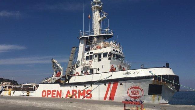 Imatge d'arxiu del vaixell d''Open Arms'