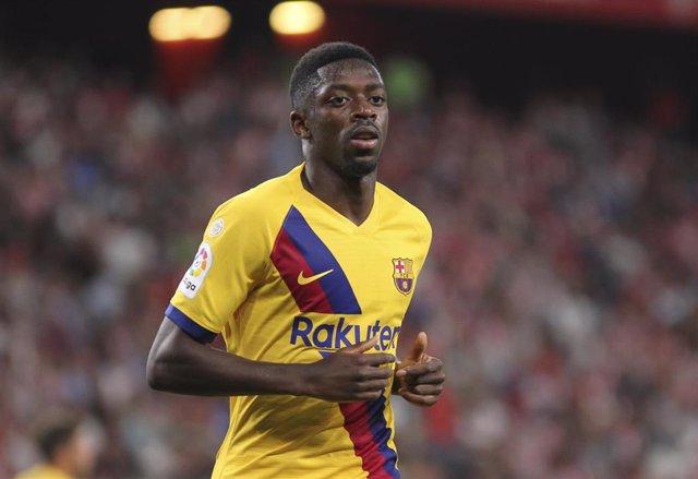 Ousmane Dembélé en el Athletic-Barça del estreno liguero
