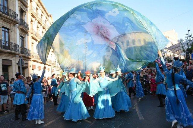 Batalla de las Flores en plena Feria de Almería