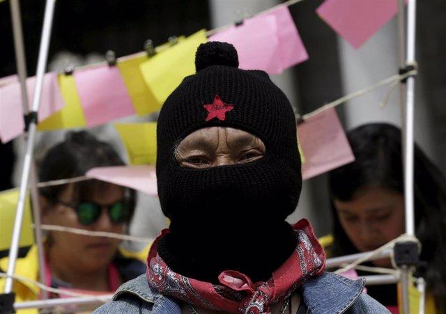 Integrante del Ejército Zapatista de Liberación Nacional (EZLN)