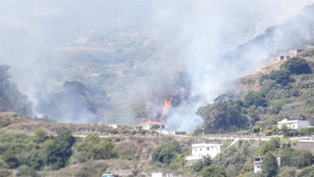 Tercera jornada del incendio de Canarias