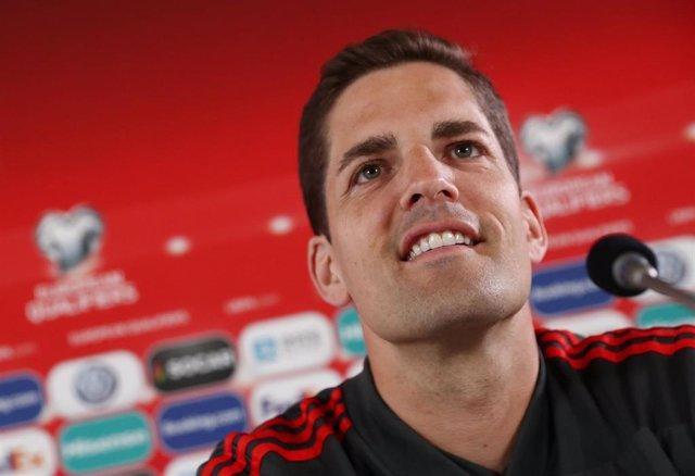 El entrenador de la selección española de fútbol, Robert Moreno.