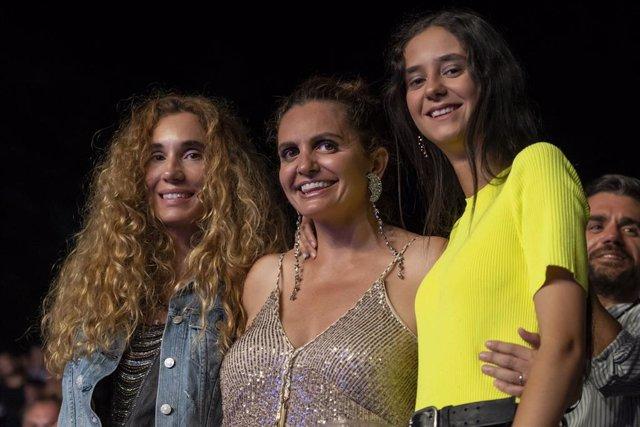 Victoria Federica y Blanca Cuesta en el concierto de Pablo López