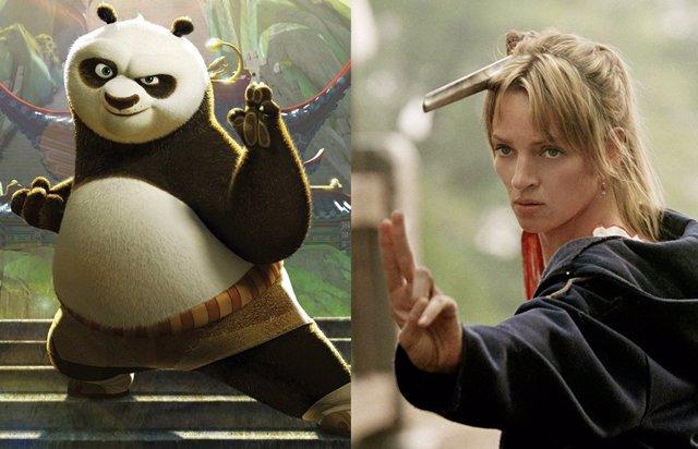 Imágenes de Kung Fu Panda y Kill Bill