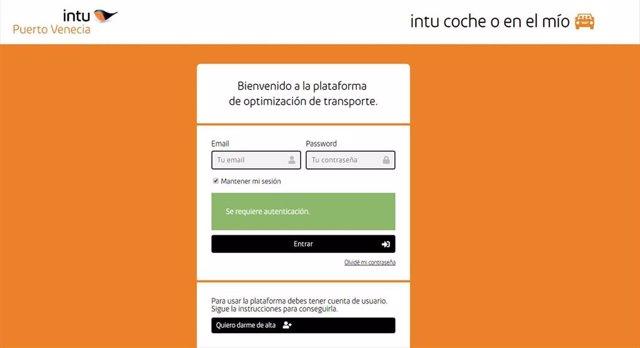 Plataforma gratuita de intu Puerto Venecia para que sus empleados compartan vehículo