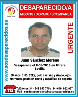 Juan Sánchez Moreno, desaparecido.