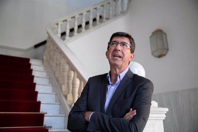 El vicepresidente de la Junta y líder andaluz de Ciudadanos (Cs), Juan Marín, en una imagen de archivo