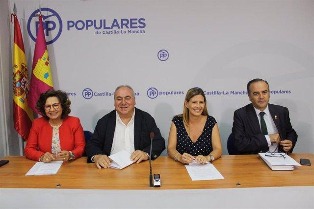 Pp Clm (Cortes De Voz Y Fotografía) Rueda De Prensa De Carolina Agudo Junto A Los Parlamentarios Nacionales Del Pp Por La Provincia De Toledo