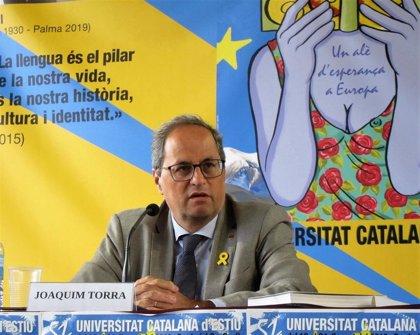 """Torra urge a relanzar el independentismo sin luchas partidistas hacia la """"confrontación democrática"""" con el Estado"""