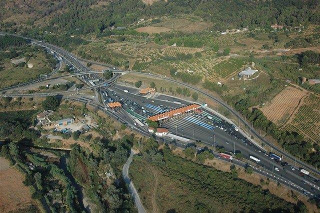 Imagen aérea de la AP7