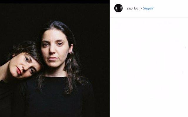 Publicación compartida en la cuenta de Instagram de la marca de moda Zap&buj, donde aparecen Raquel Buj y Elena Zapico