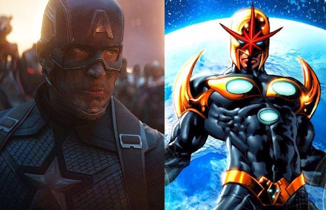 Imagen de Vengadores: Endgame junto a Nova, uno de los personajes de Marvel Cómics