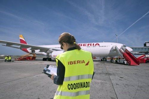Personal de 'handling' de Iberia