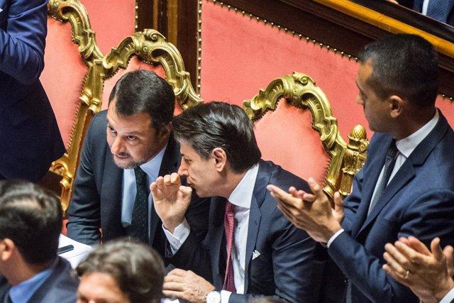 Italia.- La Liga retira la moción de censura contra Conte tras el anuncio de dim