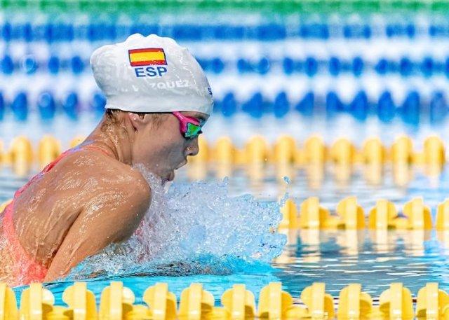 La nadadora española Alba Vázquez