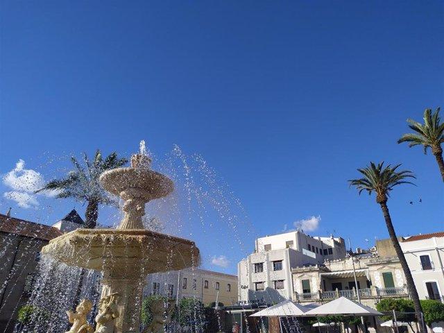 Cielo despejado en un día soleado en Mérida