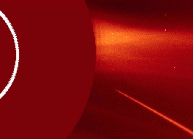 Aproximación del cometa al Sol