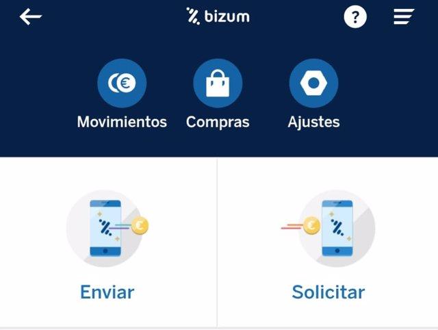 Imagen de recurso del pago Bizum desde la app de BBVA.