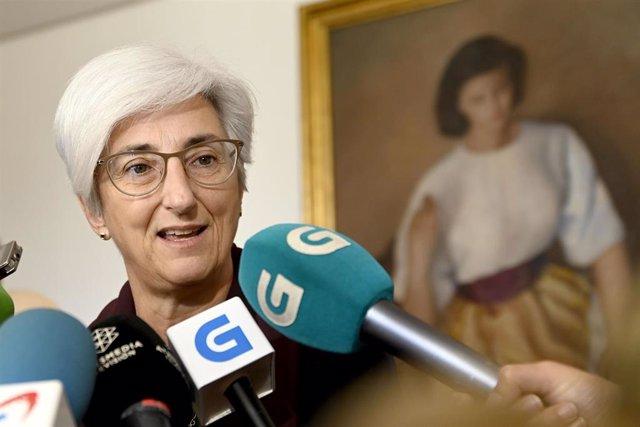 La Fiscal General de l'Estat María José Segarra ofereix declaracions als mitjans de comunicació.