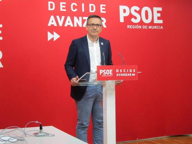 El secretario general del PSRM y portavoz del Grupo Parlamentario Socialista, Diego Conesa. Foto de archivo